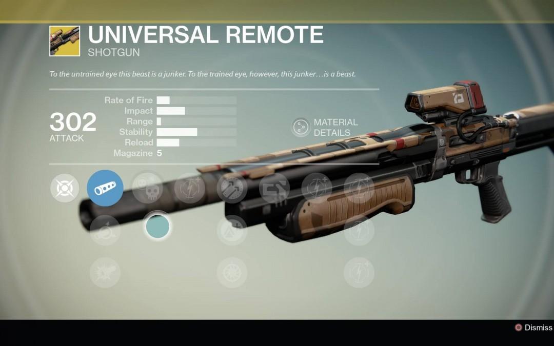 Universal Remote Primary Weapon Shotgun