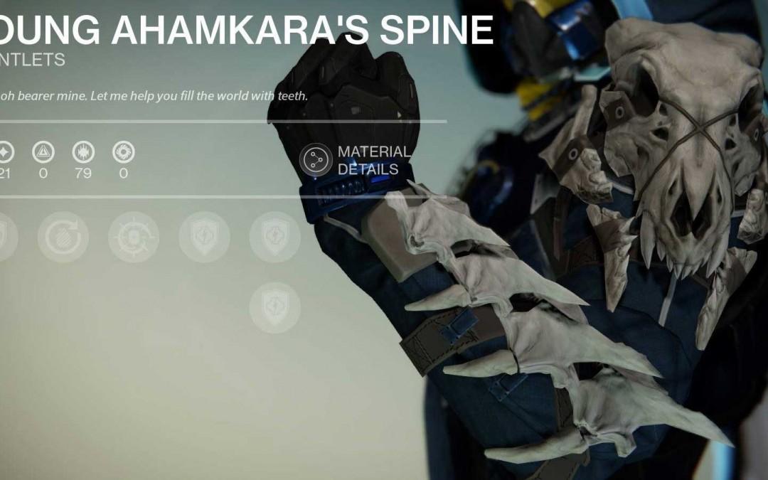 Young Ahamkara's Spine for Hunter