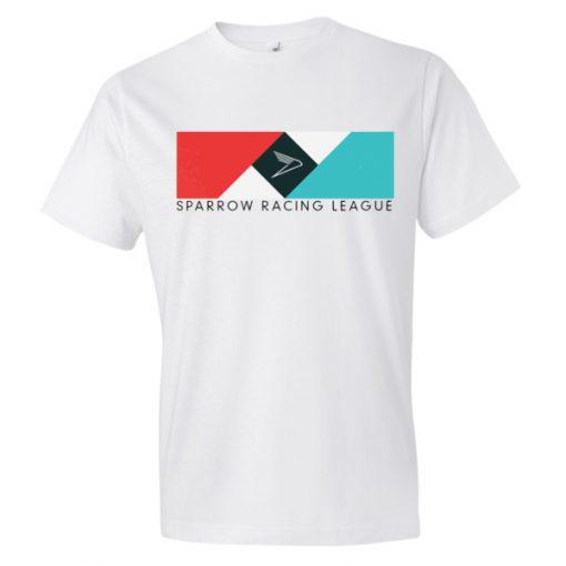 Sparrow Racing League Logo Short Sleeve White T-Shirt