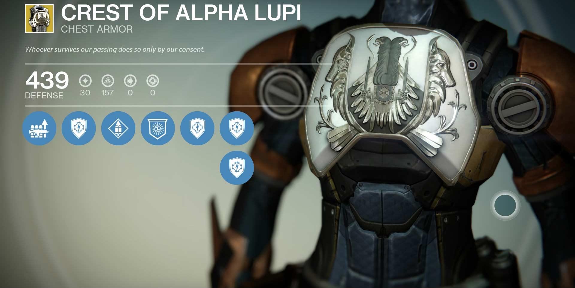 Crest of Alpha Lupi