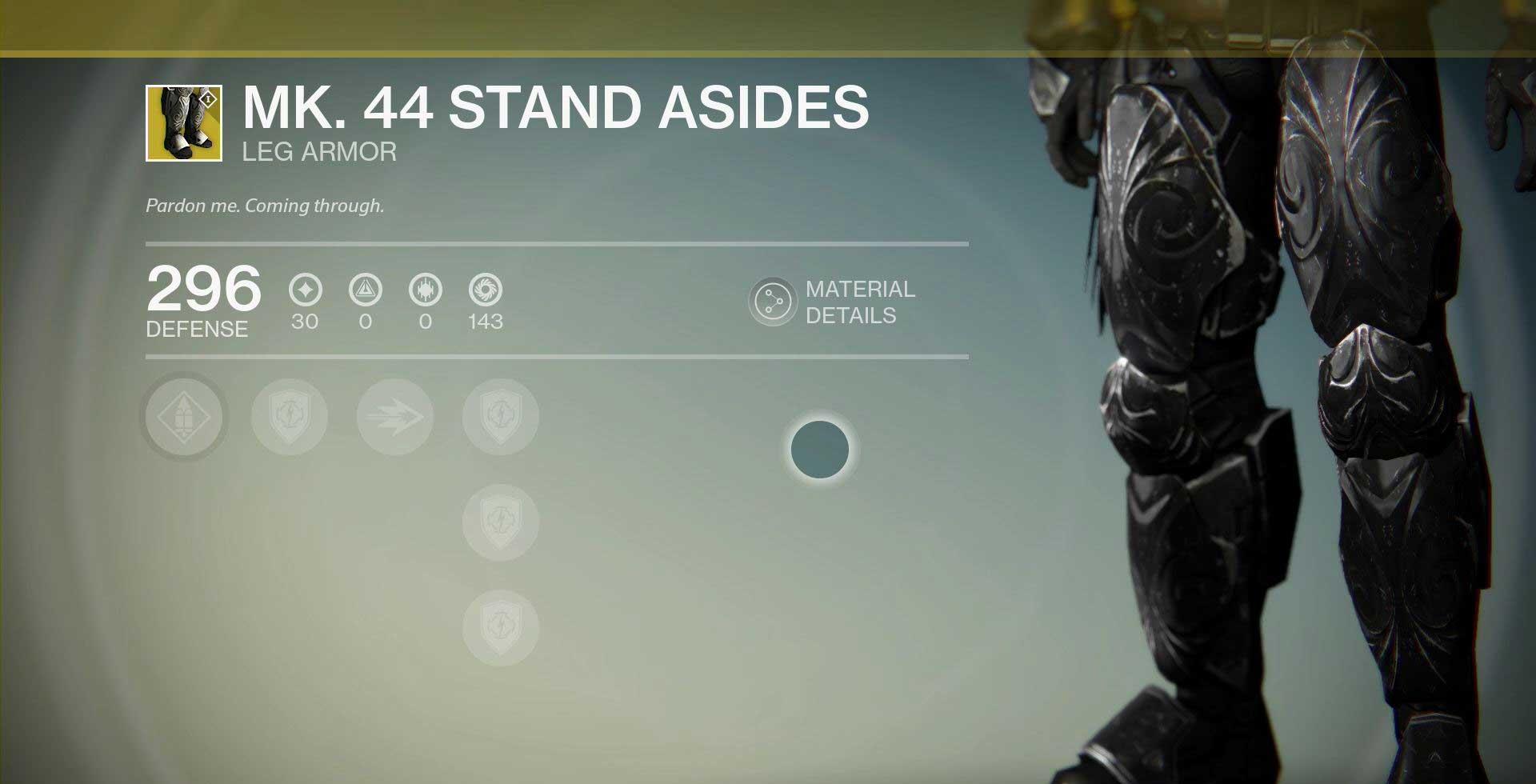 MK. 44 Stand Asides Titan Leg Armor